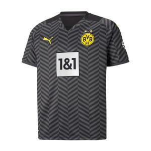 Camiseta Puma 2a Borussia Dörtmund niño 2021 2022 - Camiseta segunda equipación infantil Puma del Borussia de Dörtmund 2021 2022 - negra