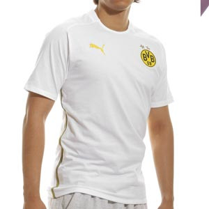 Camiseta Puma Borussia Dortmund casual algodón - Camiseta de manga corta de algodón Puma del Borussia Dortmund - blanca
