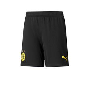 Short Puma Borussia Dortmund niño 2021 2022 - Pantalón corto primera equipación infantil Puma del Borussia Dortmund 2021 2022 - negro