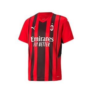 Camiseta Puma AC Milan 2021 2022 niño - Camiseta infantil primera equipación Puma AC Milan 2021 2022 - roja y negra - frontal