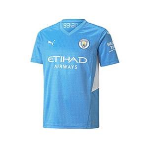 Camiseta Puma Manchester City niño 2021 2022 - Camiseta primera equipación infantil Puma del Manchester City 2021 2022 - azul celeste