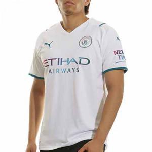 Camiseta Puma 2a Manchester City 2021 2022 - Camiseta segunda equipación Puma del Manchester City FC 2021 2022 - blanca