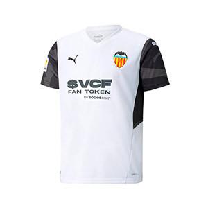 Camiseta Puma Valencia niño 2021 2022 - Camiseta infantil primera equipación Puma Valencia CF 2021 2022 - blanca
