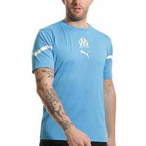 Camiseta Puma Olympique Marsella pre-match - Camiseta calentamiento pre-partido Puma del Olympique de Marsella - azul celeste