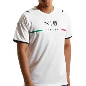 Camiseta Puma 2a Italia 2021 - Camiseta segunda equipación Puma de la selección italiana 2021 - blanca - frontal