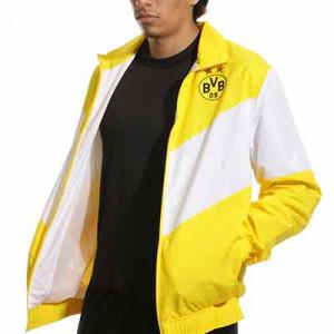 Chaqueta Puma Borussia Dortmund prematch - Chaqueta de chándal Puma del Borussia Dortmund - amarilla, blanca