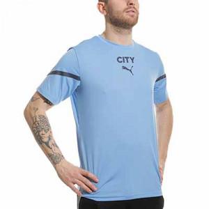 Camiseta Puma Manchester City pre-match - Camiseta calentamiento pre-partido Puma del Manchester City - azul marino