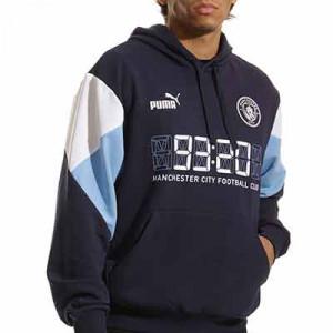 Sudadera Puma Manchester City ftblCulture Hoody - Sudadera con capucha Puma del Manchester City - azul marino