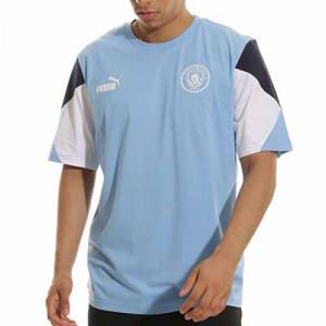 Camiseta Puma Manchester City ftblCulture - Camiseta de algodón Puma del Manchester City - azul celeste
