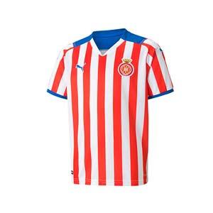 Camiseta Puma Girona niño 2021 2022 - Camiseta primera equipación infantil Puma del Girona FC 2021 2022 - blanca y roja