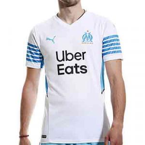 Camiseta Puma Olympique Marsella 2021 2022 - Camiseta primera equipación Puma Olympique de Marsella 2021 2022 - blanca - miniatura-frontal