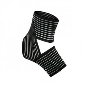 Tobillera elástica Arquer - Tobillera ajustable de elástico transpirable Arquer - Negro - lateral
