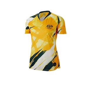 Camiseta Nike Australia Stadium mujer 2019 - Camiseta Selección australiana mujer Nike Women's World Cup 2019 - amarilla - frontal