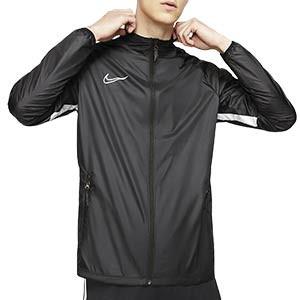 Chaqueta Nike entreno Repel Academy - Chaqueta impermeable de entrenamiento Nike - negra y blanca - Frontal