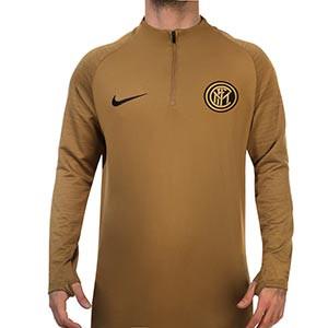 Sudadera Nike Inter entreno 2019 2020 Strike - Sudadera de entrenamiento Nike Inter de Milán 2019 2020 - dorada - frontal