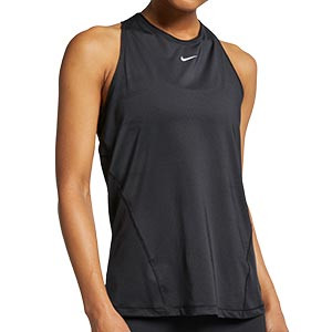 Camiseta de tirantes Nike Pro mujer - Camiseta de tirantes de mujer para fútbol Nike - negra - frontal