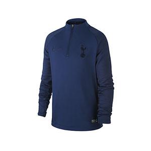 Sudadera Nike Tottenham niño entreno 19 2020 Strike - Sudadera infantil de entrenamiento del Tottenham 2019 2020 - azul marino - frontal