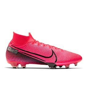 Nike Mercurial Superfly 7 Elite FG - Botas de fútbol con tobillera Nike FG para césped natural o artificial de última generación - rosas - pie derecho