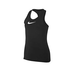 Camiseta Nike Pro niña - Camiseta de tirantes para niña Nike - negra - frontal
