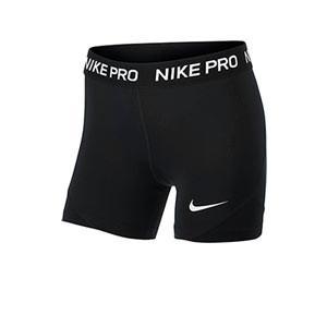 Malla compresiva Nike Pro niña - Malla corta compresiva de niña para fútbol Nike - negra - frontal