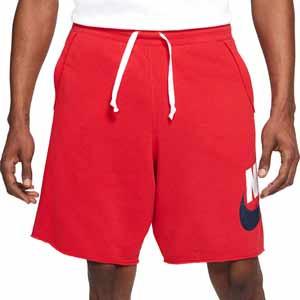 Short Nike Sportswear Alumni - Pantalón corto de algodón para calle Nike - rojo - frontal