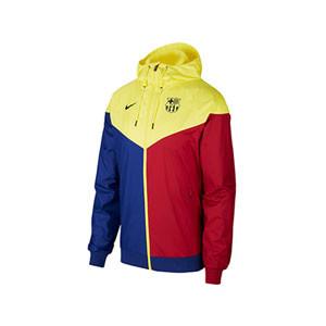 Cortavientos Nike Barcelona niño 2019 2020 - Cortavientos infantil Nike FC Barcelona 2019 2020 - varios colores - frontal