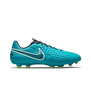 Nike Tiempo Legend 8 Academy FG/MG - Botas de fútbol de piel Nike FG/MG para césped artificial - verde azulado - pie derecho