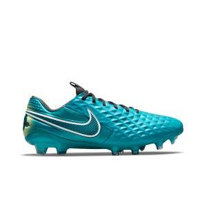 Nike Tiempo Legend 8 Elite FG - Botas de fútbol de piel de canguro Nike FG para césped natural o artificial de última generación - verde azulado - pie derecho