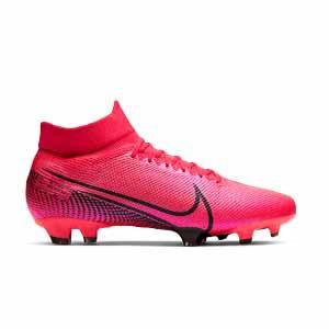 Nike Mercurial Superfly 7 Pro FG - Botas de fútbol con tobillera Nike FG para césped natural o artificial de última generación - rosas - pie derecho