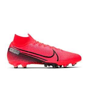 Nike Mercurial Superfly 7 Elite AG-PRO - Botas de fútbol con tobillera Nike AG-PRO para césped artificial - rosas - pie derecho