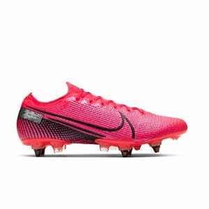 Nike Mercurial Vapor 13 Elite SG-PRO AC - Botas de fútbol Nike SG con tacos de alúminio para césped natural blando - rosas - pie derecho