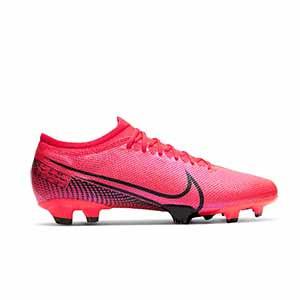 Nike Mercurial Vapor 13 Pro FG - Botas de fútbol Nike FG para césped natural o artificial de última generación - rosas - pie derecho