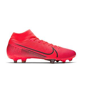 Nike Mercurial Superfly 7 Academy MG - Botas de fútbol con tobillera Nike MG para césped natural o artificial - rosas - pie derecho