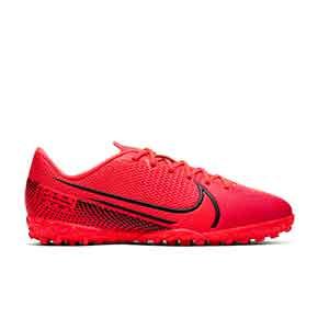 Nike Mercurial Vapor 13 Academy TF Jr - Zapatillas multitaco infantiles Nike suela turf - rosas - pie derecho