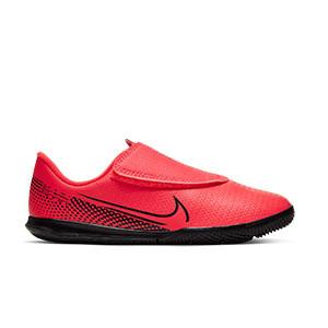 Nike Mercurial Vapor 13 Club IC PS velcro Jr - Zapatillas fútbol sala infantiles con velcro Nike suela lisa IC - rosas - pie derecho