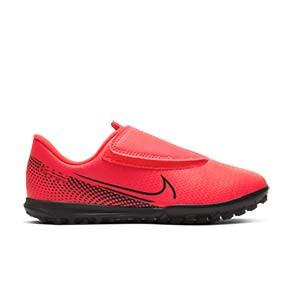 Nike Mercurial Vapor 13 Club TF PS velcro Jr - Zapatillas multitaco infantiles con velcro Nike suela turf - rosas - pie derecho