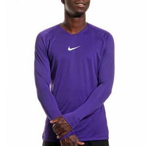 Camiseta interior térmica Nike Dri-Fit Park - Camiseta interior compresiva manga larga Nike - morada - frontal