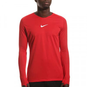Camiseta interior térmica Nike Dri-Fit Park - Camiseta interior compresiva manga larga Nike - roja - Frontal