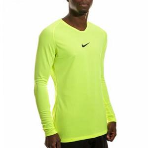 Camiseta interior térmica Nike Dri-Fit Park - Camiseta interior compresiva manga larga Nike - verde lima - frontal