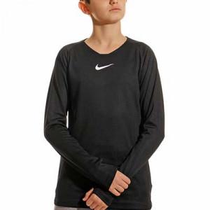 Camiseta interior térmica Nike Dri-Fit Park niño - Camiseta interior compresiva infantil manga larga Nike - negra - Frontal