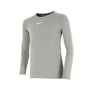 Camiseta interior térmica Nike Dri-Fit Park niño - Camiseta interior compresiva infantil manga larga Nike - gris - frontal