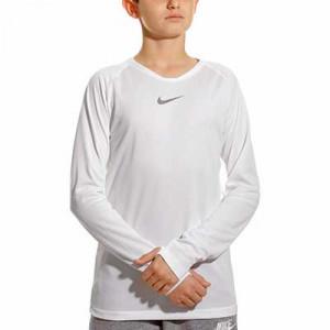 Camiseta interior térmica Nike Dri-Fit Park niño - Camiseta interior compresiva infantil manga larga Nike - blanca - frontal