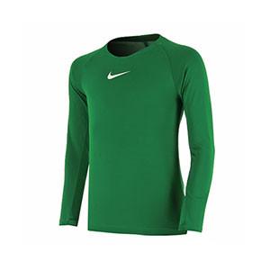 Camiseta interior térmica Nike Dri-Fit Park niño - Camiseta interior compresiva infantil manga larga Nike - verde - frontal