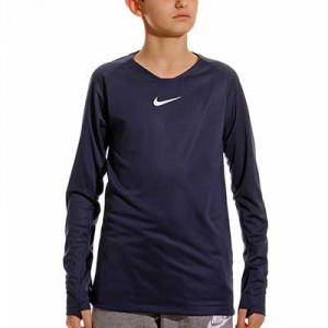 Camiseta interior térmica Nike Dri-Fit Park niño - Camiseta interior compresiva infantil manga larga Nike - azul marino - frontal
