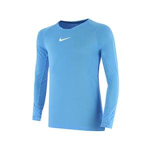 Camiseta interior térmica Nike Dri-Fit Park niño - Camiseta interior compresiva infantil manga larga Nike - azul celeste - frontal