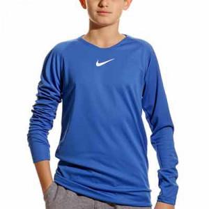Camiseta interior térmica Nike Dri-Fit Park niño - Camiseta interior compresiva infantil manga larga Nike - azul - frontal