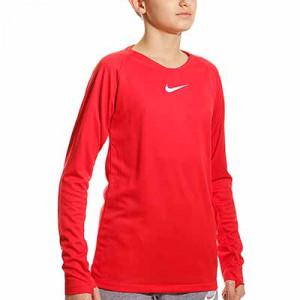 Camiseta interior térmica Nike Dri-Fit Park niño - Camiseta interior compresiva infantil manga larga Nike - roja - frontal