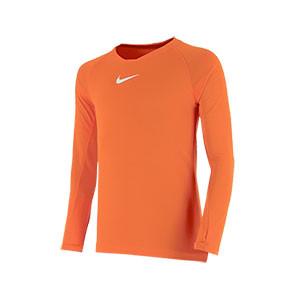 Camiseta interior térmica Nike Dri-Fit Park niño - Camiseta interior compresiva infantil manga larga Nike - naranja - frontal