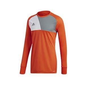 Camiseta portero adidas niño Assita 17 - Camiseta de portero infantil de manga larga acolchada adidas - naranja - frontal