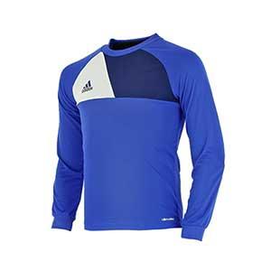 Camiseta portero niño adidas Assita 17 - Camiseta de portero infantil de manga larga acolchada adidas - Azul - frontal
